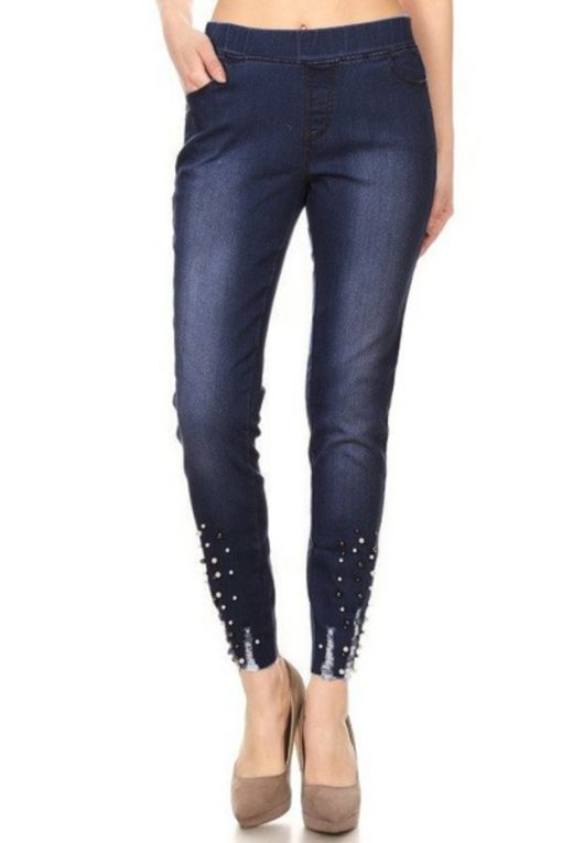 301bf13d322 Women's Distress Jegging Pants SHapping Pull-on Skinny Jeans JV5055 (1 color)(S  M L) - JVINI