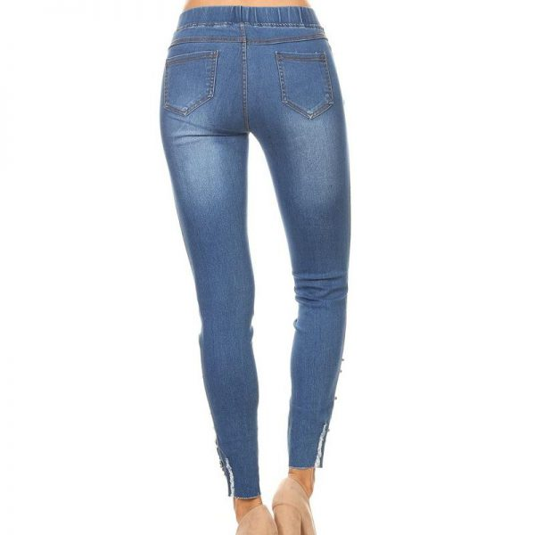 66e91ac3e81b5 Women s Distress Jegging Pants SHapping Pull-on Skinny Jeans JV5055 (1 color )(S M L)